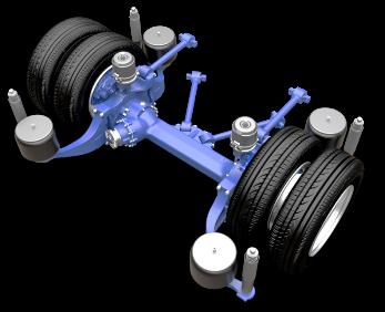 Inverted Portal Axle